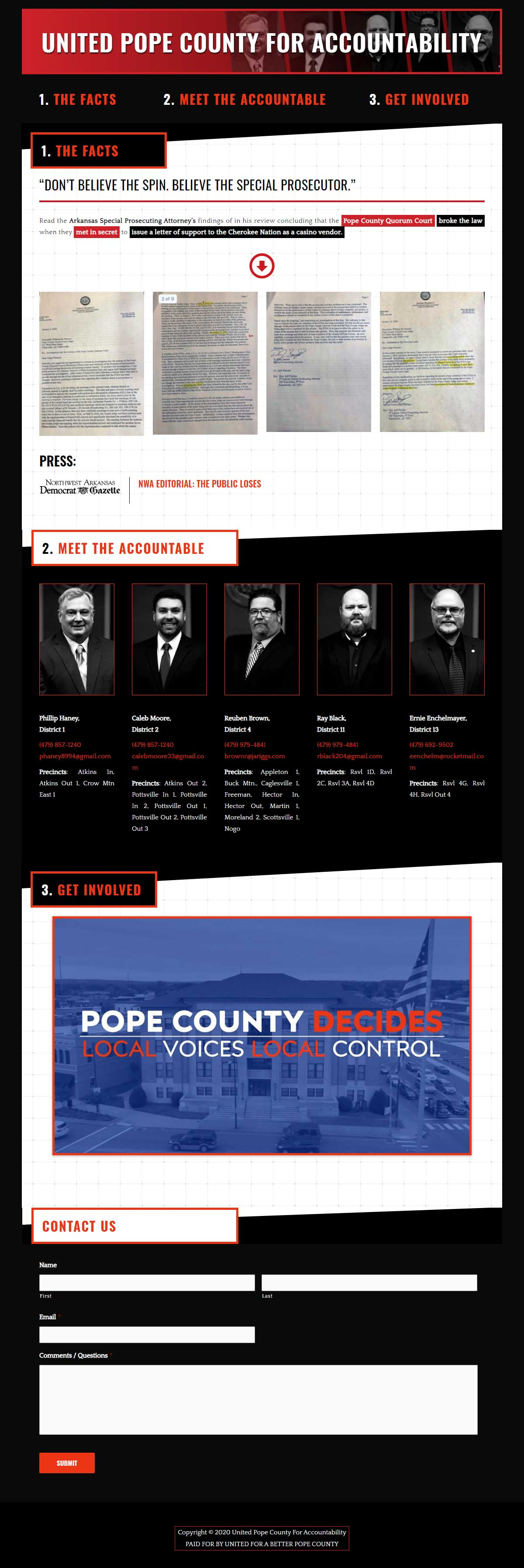 United Pope County For Accountability
