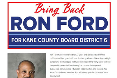 Elect Ron Ford for Kane County Board District 6 thumb