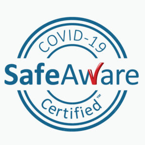 Covid-19 SafeAware Certified Logo